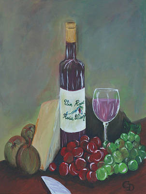 Painting - Aperitif And Appetizer Ingredients by Gail Daley