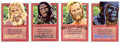 Charlton Painting - Apes Is Apes by Ken Meyer jr