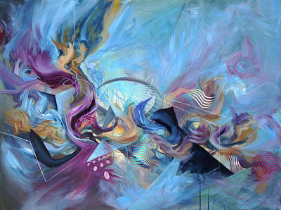 Abstract Movement Mixed Media - Apex Of The Vortex by Douglas Kleinsmith
