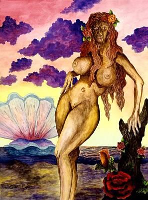 Painting - Aphrodite by Gabriel Cajina