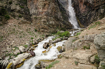 Photograph - Apikuni Falls by Margaret Pitcher