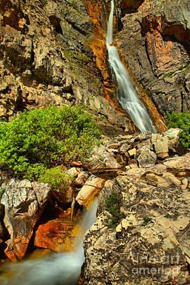 Photograph - Apikuni Streaming Falls by Adam Jewell
