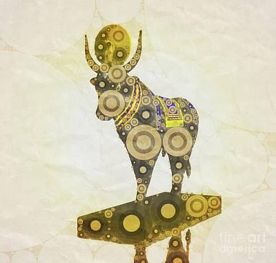 Thoth Digital Art - Apis God Of Egypt By Mary Bassett by Mary Bassett