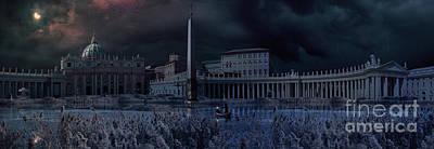 Alluvium Photograph - Apocaliptical Scene To Saint Peter Square In Rome by Giordano Aita