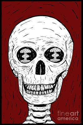 Digital Art - Apocalypse Skull by Clayton Bastiani