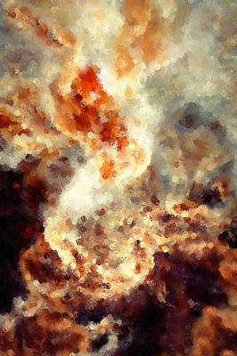 Fury Painting - Apocalyptic Abstract by Georgiana Romanovna