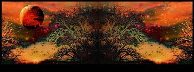 Hand Thrown Digital Art - Apocalyptic Epitaph  by Darin Baker