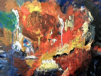 Painting - Apocalyptic Love by Miroslaw  Chelchowski