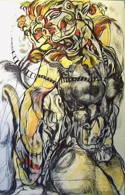Drawing - Apocrypha  by Mykul Anjelo