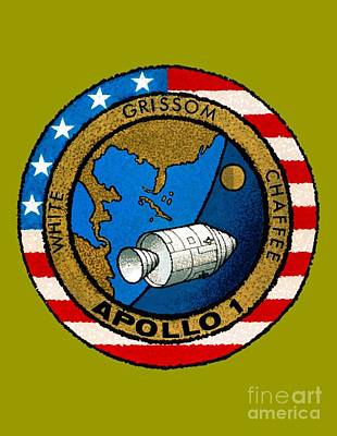 Art Gallery Painting - Apollo 1 Insignia by Art Gallery
