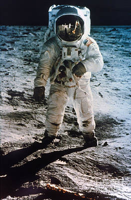 Astronauts Photograph - Apollo 11 Buzz Aldrin by Granger