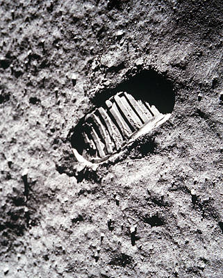 Apollo 11 Footprint On The Moon Art Print