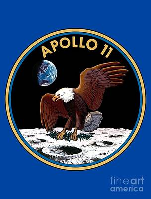 Art Gallery Mixed Media -   Apollo 11 Patch by Art Gallery