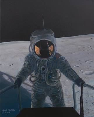 Moon Walk Painting - Apollo Destiny Achieved by Mark Pestana