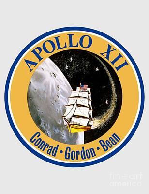 Apollo 12 Insignia Print by Art Gallery