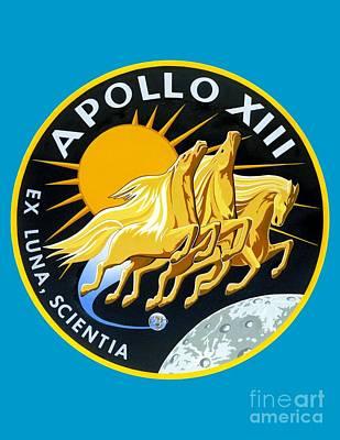 Art Gallery Digital Art - Apollo 13 Insignia by Art Gallery