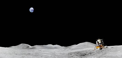 Apollo 15 Landing Site Panorama Art Print