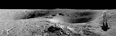 Landmarks Painting Royalty Free Images - Apollo 16 Landing 2 Royalty-Free Image by Celestial Images
