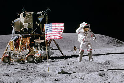 Space Exploration Photograph - Apollo 16 by Peter Chilelli