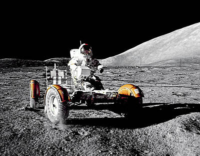 Photograph - Apollo 17 Lunar Roving Vehicle by Weston Westmoreland
