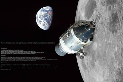 Genesis Digital Art - Apollo 8 Christmas Message by Peter Chilelli