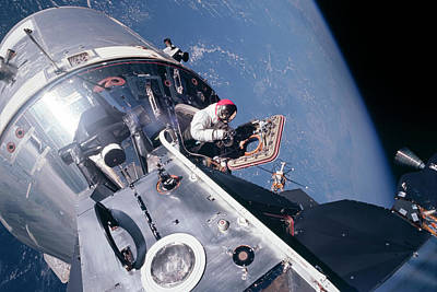 Space Exploration Photograph - Apollo 9 by Peter Chilelli
