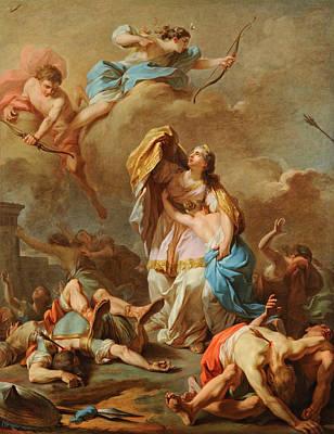 Niobe Painting - Apollo And Diana Killing The Children Of Niobe by Pierre-Charles Jombert