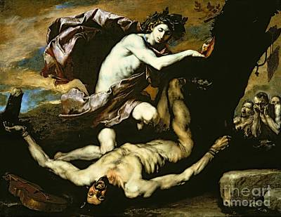 Tied-up Painting - Apollo And Marsyas by Jusepe de Ribera