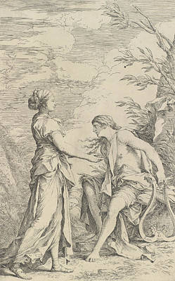 Relief - Apollo And The Cumaean Sibyl by Salvator Rosa