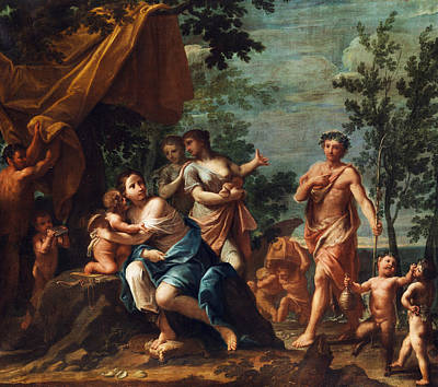 Greek Gods Painting - Apollo And The Graces by Marcantonio Franceschini