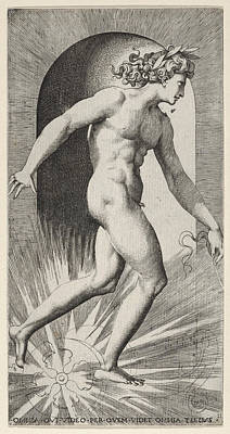 Drawing - Apollo by Giovanni Jacopo Caraglio