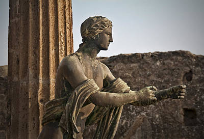Photograph - Apollo In Pompeii by Steven Sparks