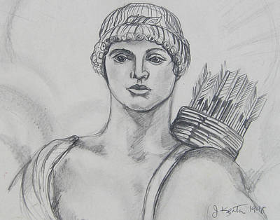 Drawing - Apollo by John Keaton