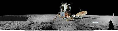 Landmarks Painting Royalty Free Images - Apollo misson, lunar panoramas, nasa 3 Royalty-Free Image by Celestial Images