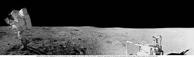 Landmarks Painting Royalty Free Images - Apollo misson, lunar panoramas, nasa 5 Royalty-Free Image by Celestial Images