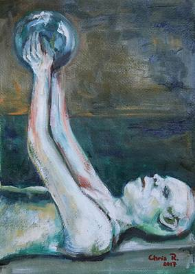 Painting - Apollo In Agony by Christel Roelandt