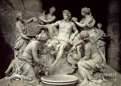 Sculpture - Apollo Tended By The Nymphs, Intended For The Grotto Of Thetis by Francois Girardon