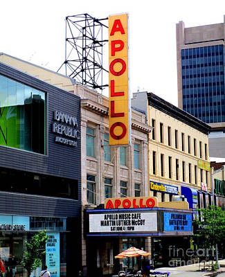 Harlem Photograph - Apollo Theater by Randall Weidner
