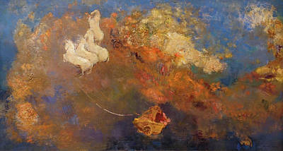 Zeus Painting - Apollo's Chariot by Odilon Redon