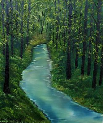 Painting - Apologies Go Downstream by Lisa Aerts