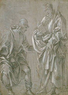 Drawing - Apostle And Youth by Filippino Lippi