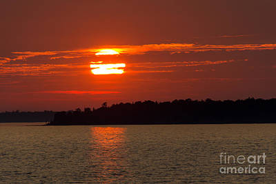 Photograph - Apostle Island Sunset by CJ Benson