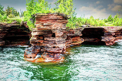 Photograph - Apostle Islands Sea Caves by Deborah Klubertanz