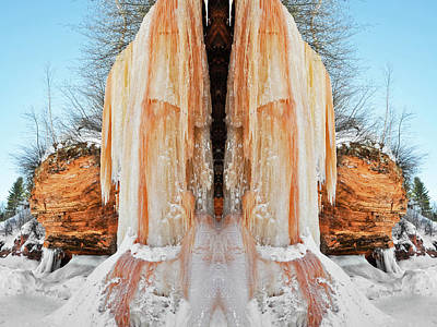 Photograph - Apostle Islands Waterfall Mirror by Kyle Hanson