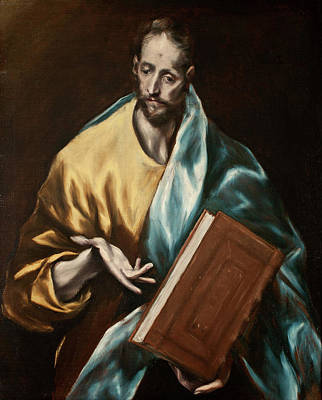 Church Painting - Apostle Saint James The Less by El Greco