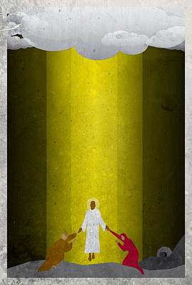 Digital Art - Apostles' Creed 4  - Ascension by Jason Custer