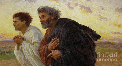 Olympic Sports - Apostles Peter and John hurry to the tomb on the morning of the Resurrection by Celestial Images