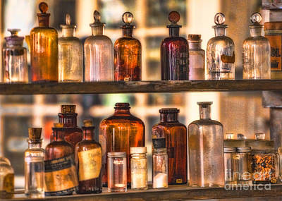 Alchemistic Photograph - Apothecary Bottles by Jerry Fornarotto