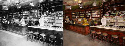 Photograph - Apothecary - Cocke Drugs Apothecary 1895 - Side By Side by Mike Savad