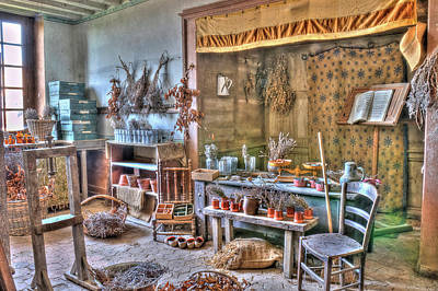 Hdr Photograph - Apothecary by Jan Carr